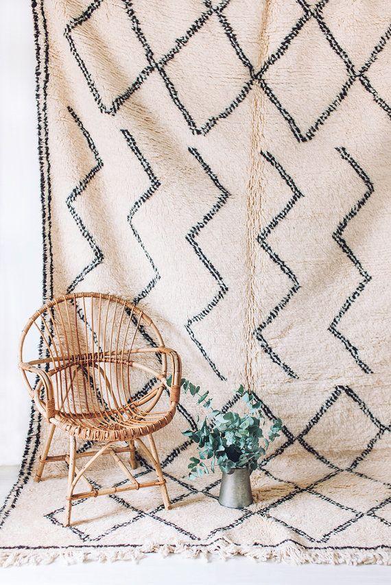 RÉSERVÉ aux Camille / / Vintage Beni Ourain tapis  par LoomAndField