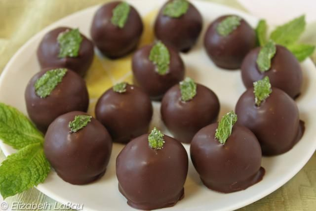 Fresh Mint Truffles are rich, smooth chocolate truffles infused with the refreshing taste of fresh mint leaves.