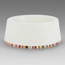 Paul Smith Dog Accessories - Multi Stripe Trim Dog Bowl