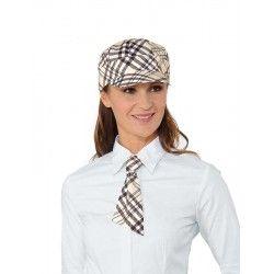 krém kockás nyakkendő