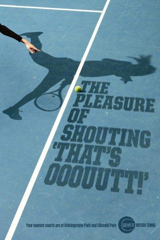 Lawn Tennis Association - The Pleasure of Shouting by Bartle Bogle Hegarty - Presse & publications