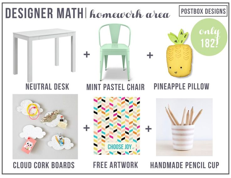 Create a designated homework area for your child to complete their homework  Include all of the necessary supplies and resources your child will need to