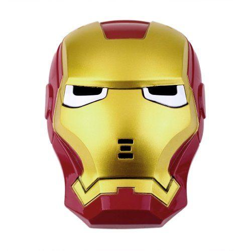 LED Light Eye Iron Man Face Mask Fancy Dress Masquerade Costume Halloween @ niftywarehouse.com #NiftyWarehouse #IronMan #Iron-man #Marvel #Avengers #TheAvengers #ComicBooks #Movies