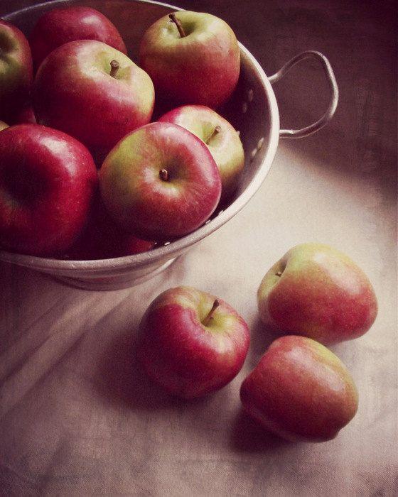 Still Life Photography Apples Print Red by VictoriaEnglishCharm