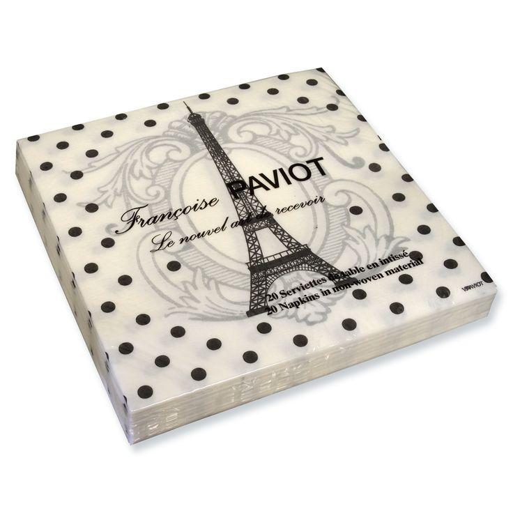 trendytable - Eiffel Tower Dinner Napkin, $12.99 (http://www.trendytable.com/eiffel-tower-dinner-napkin/)