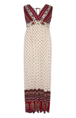 The tie back detail completes this patterned maxi dress from Primark!