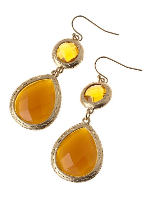 Emma Earrings-Honey Yellow from A+C