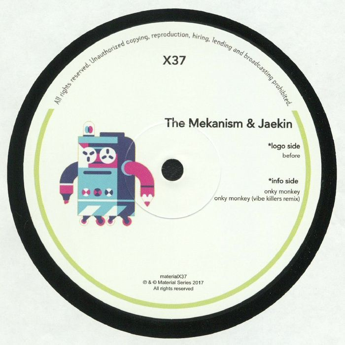 The Mekanism | Jaekin - Material Heads Vol 37 (Material Series) #music #vinyl #musiconvinyl #soundshelter #recordstore #vinylrecords #dj #House