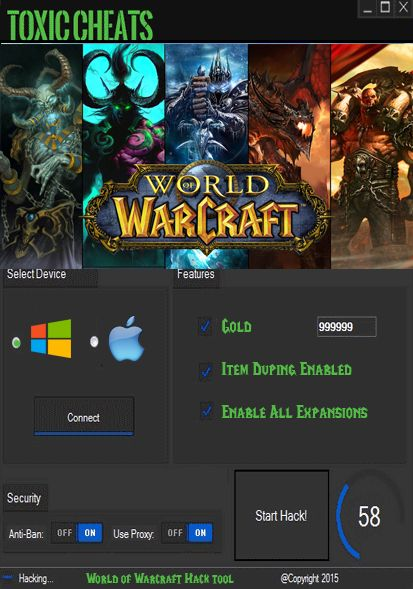 World of Warcraft Hack Cheat tool unlimited gold