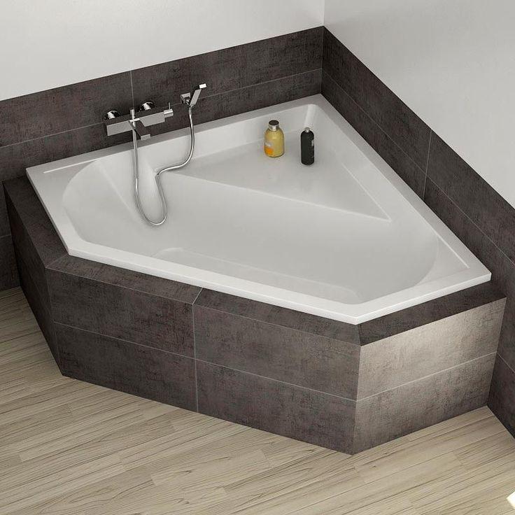 Les 25 meilleures id es concernant baignoire d 39 angle sur for Rangement baignoire bois