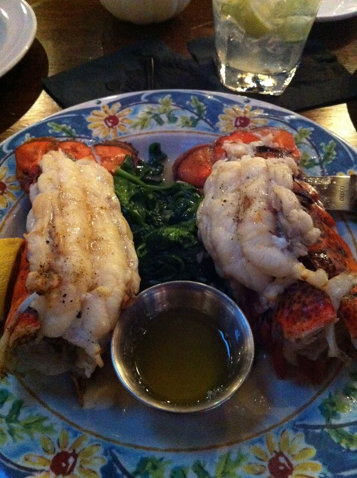 Paradisio in San Leandro, CA  Night out for Lobster Tails.  No Potatoes.  Spinach on the side:)