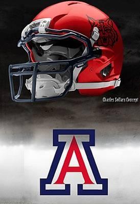 University of Arizona Wildcats - concept football helmet