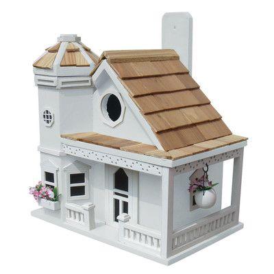Home Bazaar Fledgling Series Flower Pot Cottage Mounted Birdhouse & Reviews   Wayfair