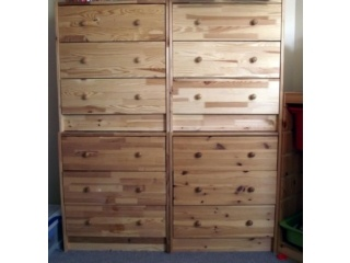 Double Stacked Ikea Rast Chest Of Drawers I M Stacking