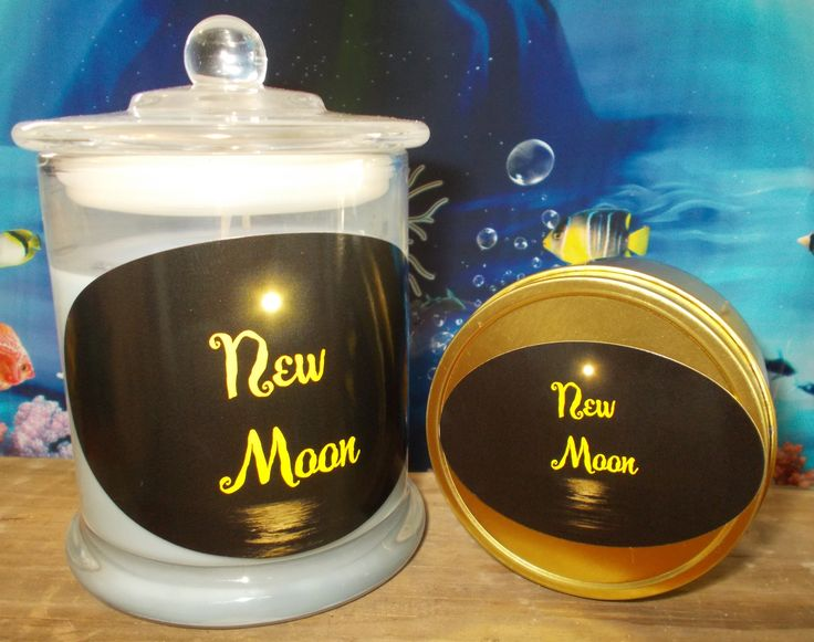 New Moon Candles hand poured natural eco 100% soy with love Glass Jar and travel tins