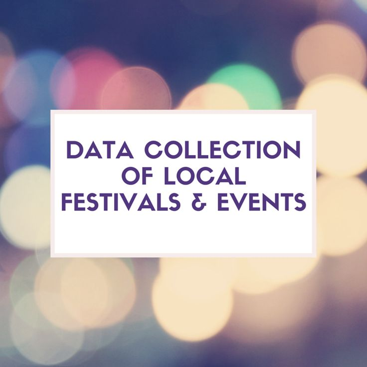Data Collection of local festivals and events - check out the new blog at www.getsmartglobal.com/blog