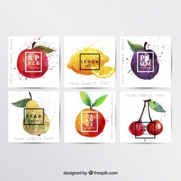 Pintados à mão frutas posters