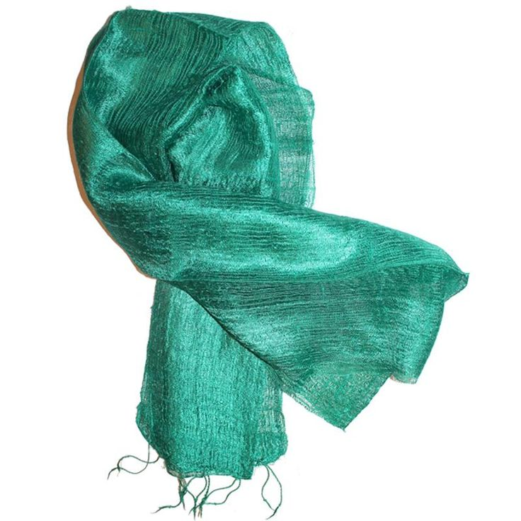 Silk Scarf Yakshima Green 2