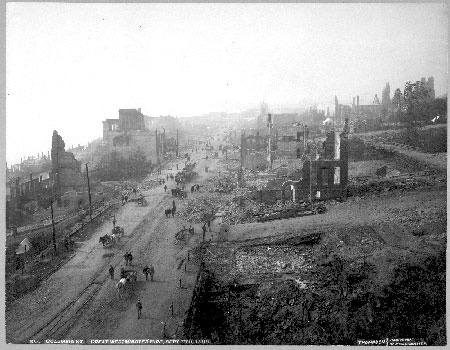 The Great Fire of 1898 in New Westminster
