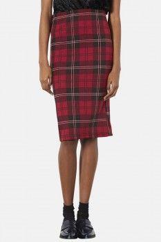 Topshop plaid tube skirt worn by emma chota on red band society shop