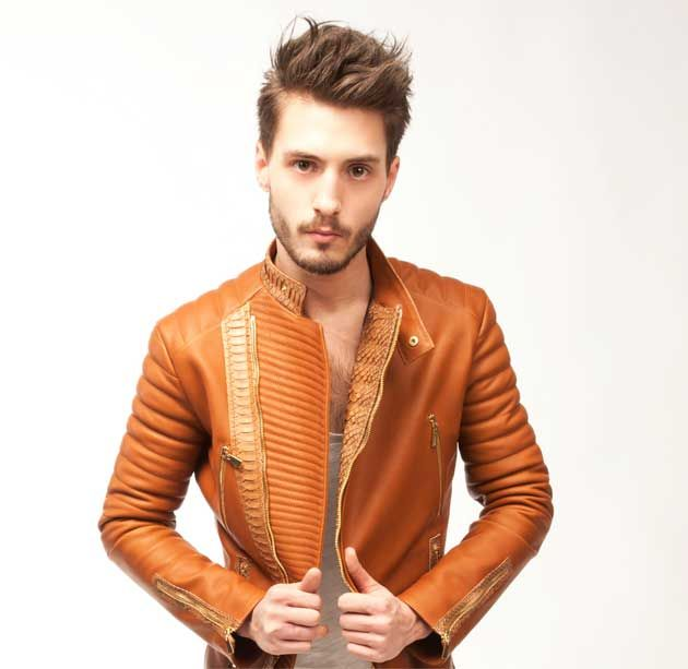 55 best images about men 39 s leather jackets 2012 on for Haute couture men
