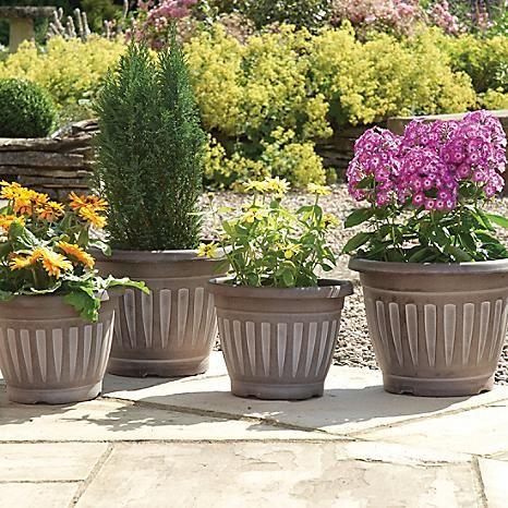 Set of Four Georgian Style Planters #kaleidoscope #garden