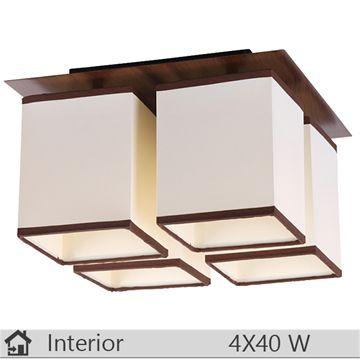 Plafoniera iluminat decorativ interior Rabalux, gama Kubu, model 2897