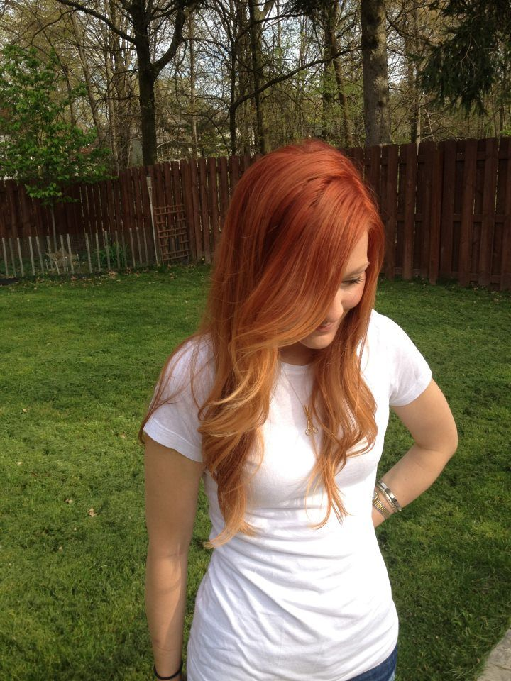 Katie! red ombre...i love red hair too much! i want this but i don't know if i could pull it off.......