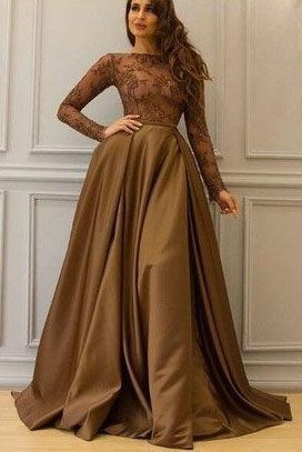 da384e8bb8d65 Long Sleeve Prom Dresses,A Line Evening Dress,Elegant Prom Gowns,Formal  Prom Dresses by RosyProm, $170.99 USD