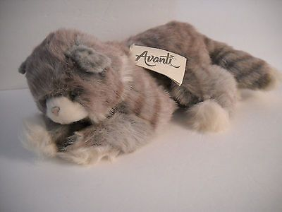 "Vintage Avanti Applause Plush Grey Tabby Kitten 1986 with Tag 12"" Jockline • $44.00"