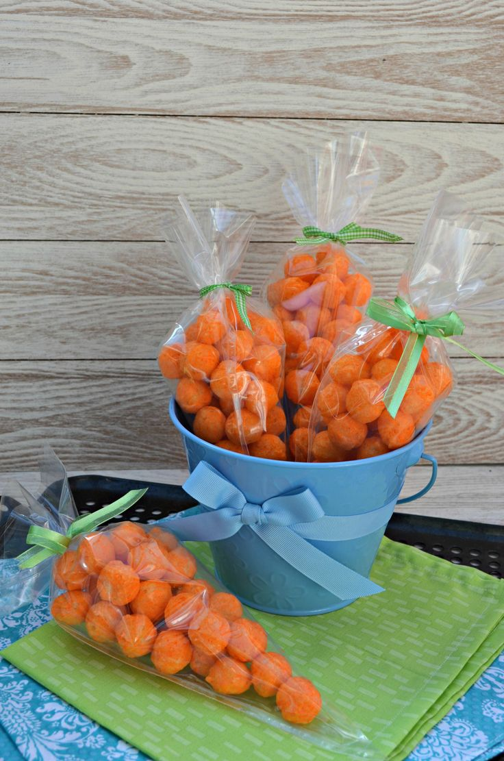 Cheese Puff Carrots for Easter #Easter #SchoolTreats