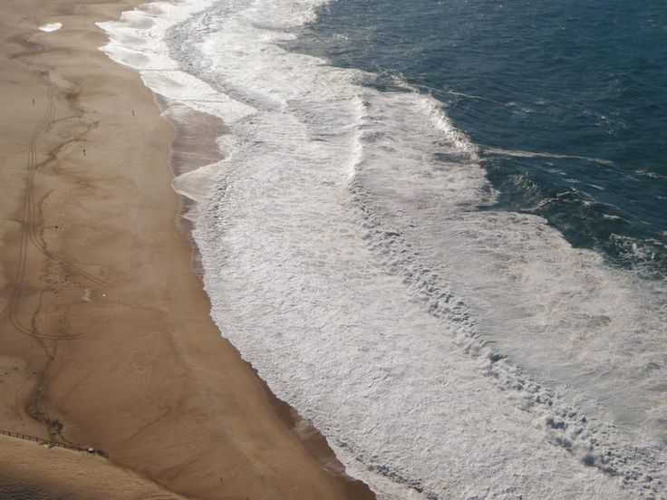 Ocean view at Nazaré, Portugal. Home to the biggest waves of the world