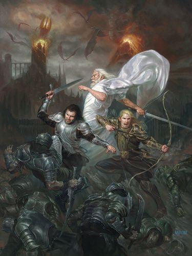Gandalf, Aragorn, and Legolas
