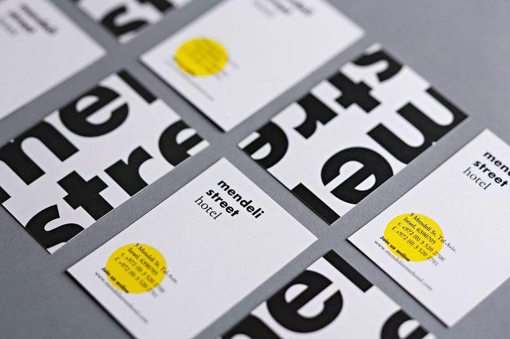 Business cards created for Tel aviv hotel Mendeli Street designed by Koniak.