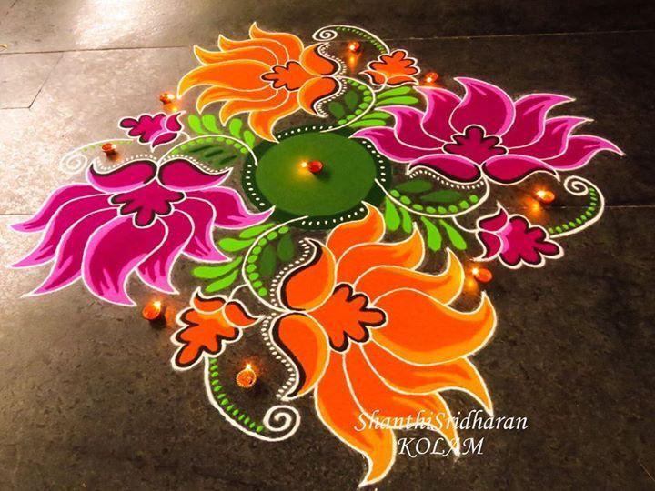#lotus#orange#pink#mandala#kolam
