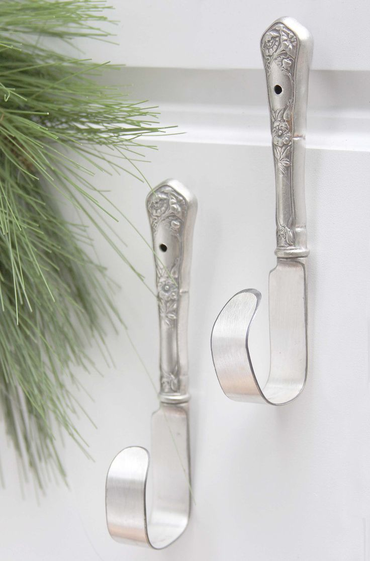 Strong & Stunning Silverware hooks - 1 pair. $24.95, via Etsy.