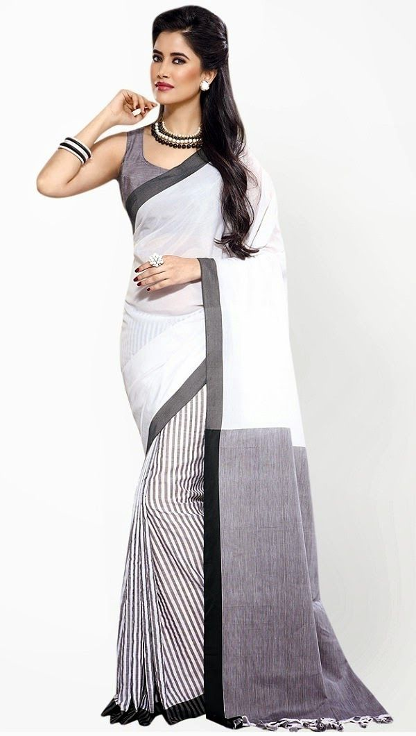 Aura Printed Cotton Saree.