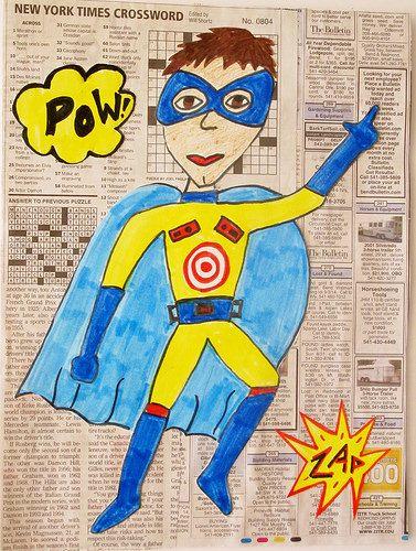 Super Hero Self-Portraits My sample                                                                                                                                                                                 More