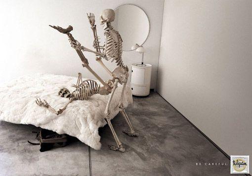 Creative Advertising for Tulipan: Skeleton