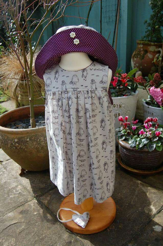 Paddington Bear dress in brushed cotton (Mia design)