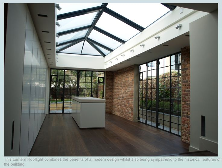 The Architect for this project proposed a roof design consisting of a low pitched Lantern Rooflight which would mirror the existing roof pitch whilst providing internally high ceilings and generous natural light. The Rooflight Company designed a beautiful and unique 8m by 5m roof structure to fit the specification. - See more at: http://www.therooflightcompany.co.uk/richmond-road-twickenham#sthash.3PCPN9nQ.dpuf