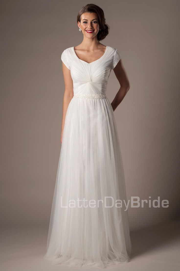 The 39 middleton 39 gown by latterday bride in stock and for Modest wedding dresses under 500