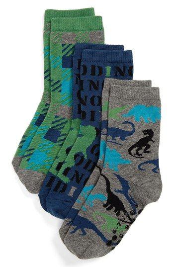 Nordstrom 'Dino' Crew Socks (3-Pack) (Toddler Boys & Little Boys) | Nordstrom