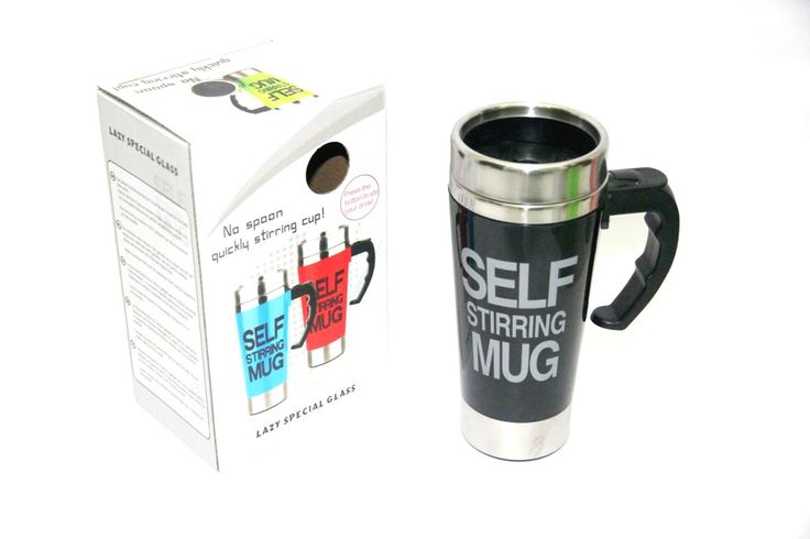 Self Stirring Mug Big Black Rp 145.000