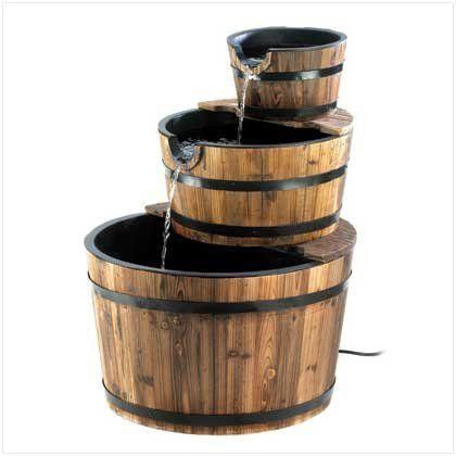 Rustic Three Tier Apple Barrel Outdoor Water Fountain by Furniture Creations, http://www.amazon.com/gp/product/B004V99HXW/ref=cm_sw_r_pi_alp_WPfJpb1SRVVF1
