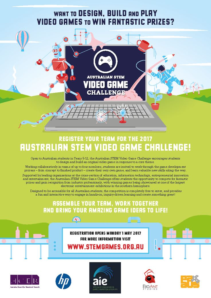 ACER's Australian STEM Video Game Challenge is open to Australian students in Years 5-12 and encourages students to design and build an original video game in response to a core theme - http://www.stemgames.org.au This year's theme is 'REACTION!' and ACER say they can't wait to see some fantastic responses from Australian students.  Registrations for this year's competition open on Monday 1 May 2017, and it is completely free to enter!  Information pack (PDF)…
