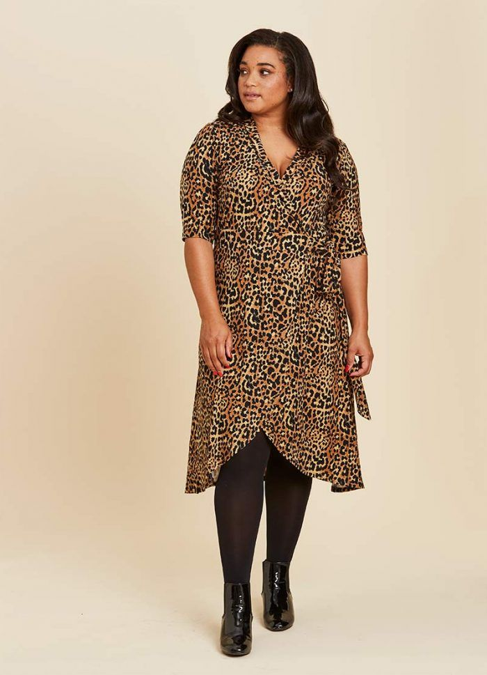 cf46b1cecf9904 Lotta Leopard Print Wrap Dress | Halloween BOO-tiful! | Dresses ...