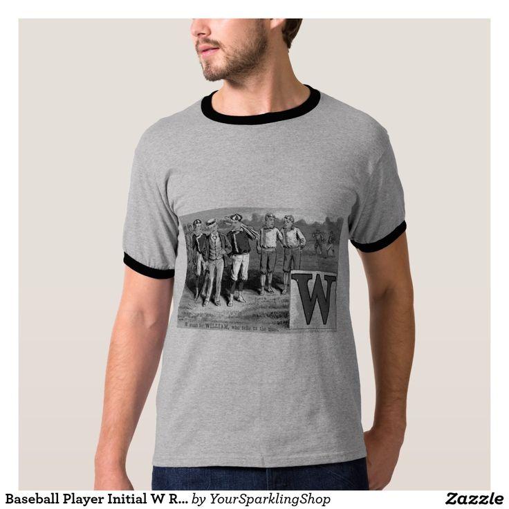 #Baseball Player Initial W Rhyme #Vintage #William #Shirt