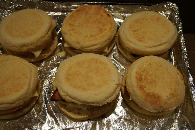egg and bacon muffins DSC05908 by planningqueen, via Flickr
