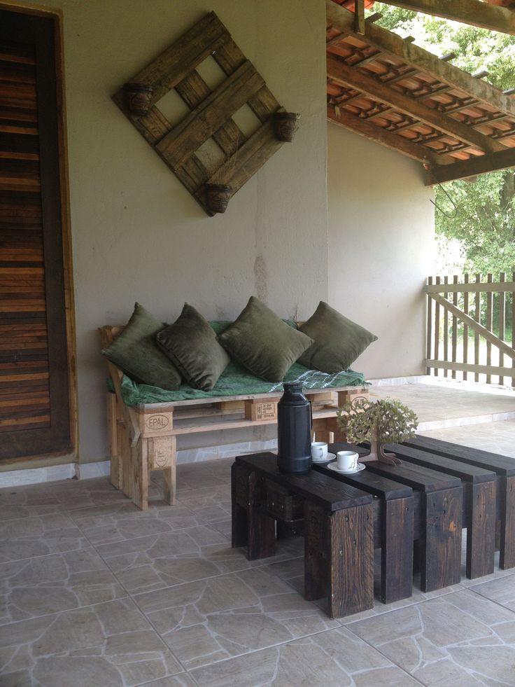 Fabricação propria #CoffeeTable, #Pallets, #Sofa